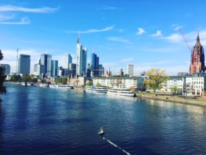 flying in Frankfurt