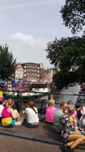 Gay pride in amsterdam