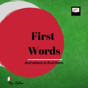 First Words_Italian alphabet