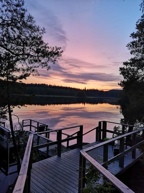 A lake in Finland by Daniele Frau