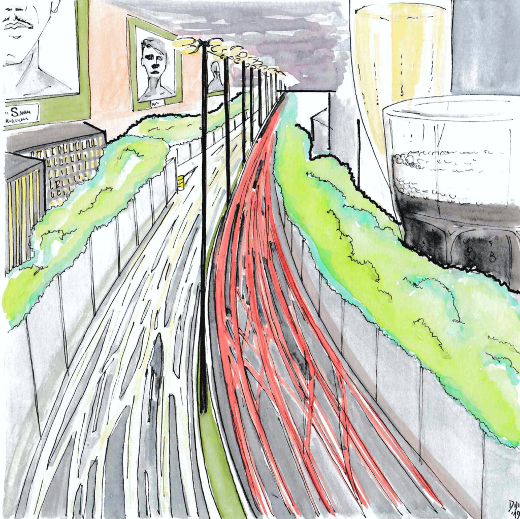 The wall_The river of cars