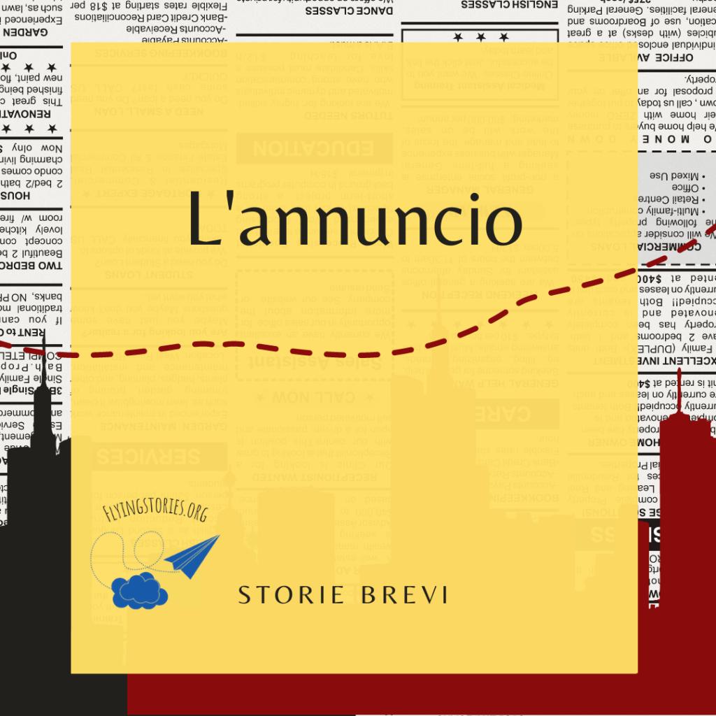 La città, un annuncio particolare. Una storia breve di Daniele Frau.