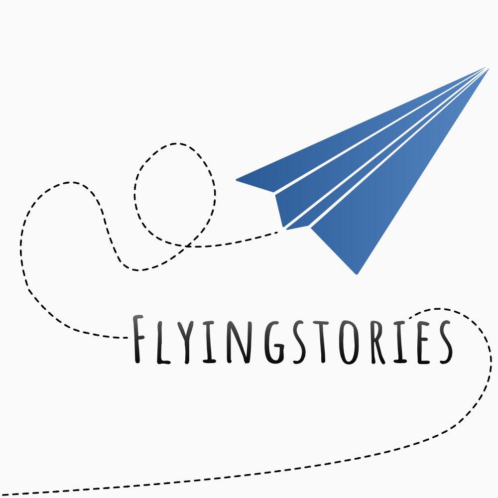 Flyingstories logo is designed and created by Daniele Frau.