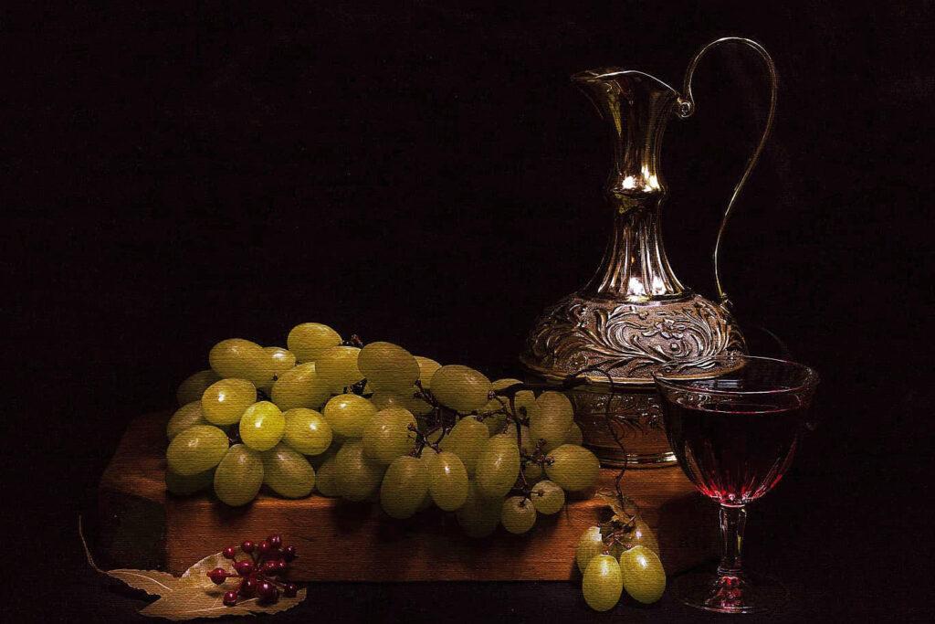 A glass of wine in the dark. Vinoè, foto realizzata dal fotografo Massimiliano Frau.