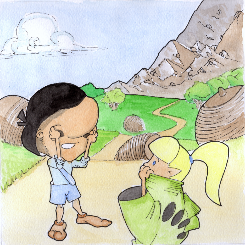Nodo is close to the cave, where the famous wizard Jumpy is kept prisoner by a dragon.